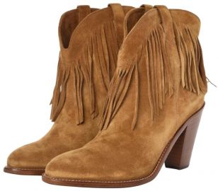 Tan New Western 80 Fringe Boots at Tradesy