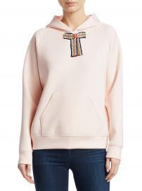 Tanina Jewel Bow Hoodie by Maje at Saks Fifth Avenue