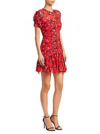 Tanya Taylor - Carti Floral Clusters Ruched Dress at Saks Off 5th