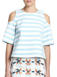 Tanya Taylor - Cold-Shoulder Striped Top at Saks Fifth Avenue