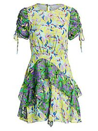 Tanya Taylor - Corinne Floral Silk-Blend Dress at Saks Fifth Avenue