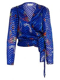 Tanya Taylor - Erica Burnout Wrap-Style Blouse at Saks Fifth Avenue