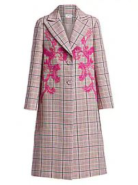 Tanya Taylor - Leida II Plaid Long Coat at Saks Fifth Avenue