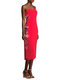 Tanya Taylor - Meredith Satin Crepe Dress at Saks Fifth Avenue