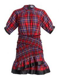 Tanya Taylor - Nicole Plaid Ruffled Mini Dress at Saks Fifth Avenue