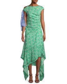 Tanya Taylor Carita Ditsy Floral-Print Midi Dress at Neiman Marcus