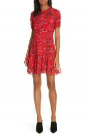 Tanya Taylor Carti Pintuck Detail Silk Chiffon Dress  Regular  amp  Plus Size    Nordstrom at Nordstrom