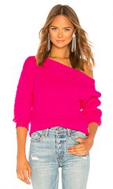 Tanya Taylor Marie Sweater in Hot Pink from Revolve com at Revolve