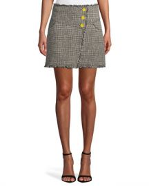 Tanya Taylor Monti Tweed Skirt at Neiman Marcus