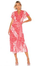 Tanya Taylor New Blaire Dress in Ditsy Floral Stripe Guava from Revolve com at Revolve