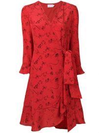 Tanya Taylor Silk Wrap Dress - Farfetch at Farfetch