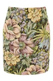 Tapestry High Waisted Mini Skirt - Skirts - Clothing at Topshop