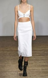 Tardo Silk Blend Harness Bra and Tardo High Waist Skirt by Olivier Theyskens at Moda Operandi
