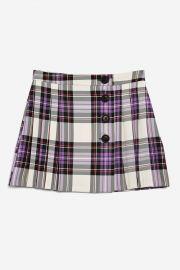 Tartan Button Kilt Skirt at Topshop