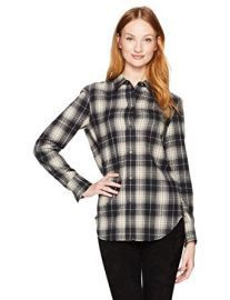 Tartan Plaid Oversized Button Down Shirt by Vince at Amazon