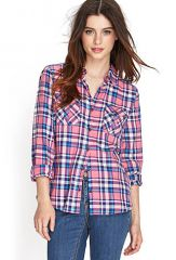 Tartan Plaid Shirt at Forever 21