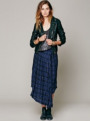 Tartan skirt at Free People