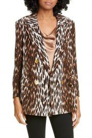 Taryn Leopard Print Silk Blazer at Nordstrom Rack