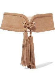 Tasseled Suede Waist Belt by Balmain at Yoox