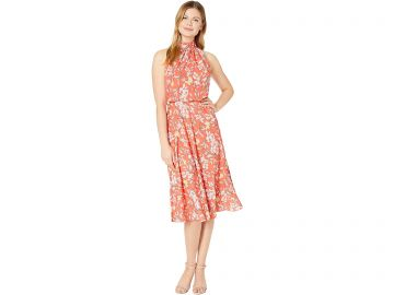Tea Time Floral Print Midi Dress by Adrianna Papell at Zappos