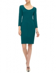 Teal Scoopneck Dress at Avenue 32