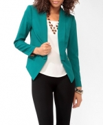 Teal blazer at Forever 21 at Forever 21