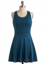 Teal dress from Modcloth at Modcloth