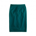 Teal pencil skirt from J Crew at J. Crew
