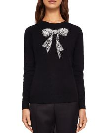 Ted Baker Bowsi Bow Embellished Sweater at Bloomingdales