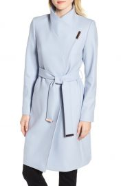 Ted Baker London Wool Blend Long Wrap Coat   Nordstrom at Nordstrom