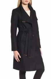 Ted Baker London Wool Blend Long Wrap Coat at Nordstrom