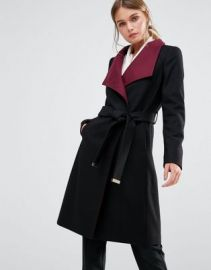 Ted Baker Afina Wrap Coat with Contrast Lapel at asos com at Asos