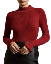 Ted Baker Albaai Scalloped Mock-Neck Sweater Women - Bloomingdale s at Bloomingdales