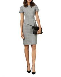 Ted Baker Arriia Working Title Glen Plaid Peplum Dress   Women - Bloomingdale s at Bloomingdales