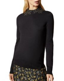 Ted Baker Azaleo Studded Floral Cutout Sweater Women - Bloomingdale s at Bloomingdales