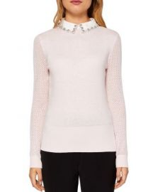 Ted Baker Braydey Embellished Collar Sweater at Bloomingdales
