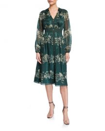 Ted Baker Delyla Meadowsweet Long-Sleeve Midi Dress at Neiman Marcus