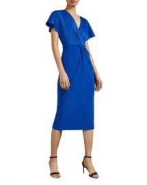 Ted Baker Ellame Twist-Front Dress Women - Bloomingdale s at Bloomingdales