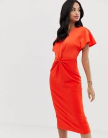 Ted Baker Ellame wrap over bodycon dress   ASOS at Asos
