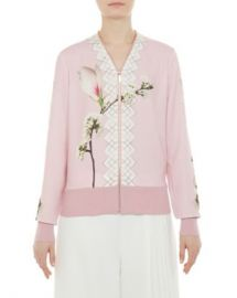 Ted Baker Emylou Harmony Print Zip Cardigan Women - Bloomingdale s at Bloomingdales
