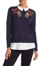 Ted Baker Floral Embroidered Sweater at Nordstrm Rack