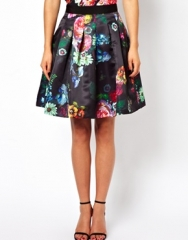 Ted Baker Full Skirt in All Over Floral Print at Asos