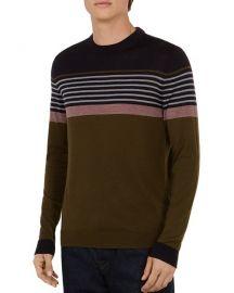 Ted Baker Giantbu Striped Crewneck Sweater at Bloomingdales