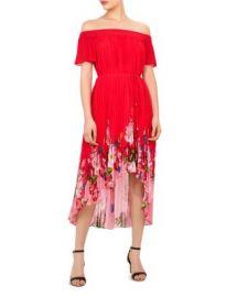 Ted Baker Gillyy Berry Sundae Off-the-Shoulder Dress Women - Bloomingdale s at Bloomingdales