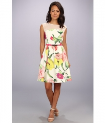 Ted Baker Iberis Flowers At High Tea Print Dress Cream at Zappos