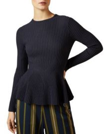 Ted Baker Jariala Ribbed Peplum Sweater Women - Bloomingdale s at Bloomingdales