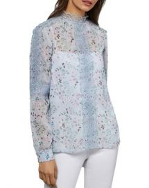 Ted Baker Javiera Lace-Trimmed Floral Top Women - Bloomingdale s at Bloomingdales