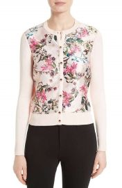 Ted Baker KARLIA Blossom Jacquard Cardigan in Nude Pink at Amazon