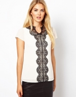 Ted Baker Lace panel top at Asos