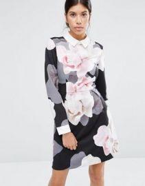 Ted Baker Lascii Porcelain Rose Collar Dress at asos com at Asos